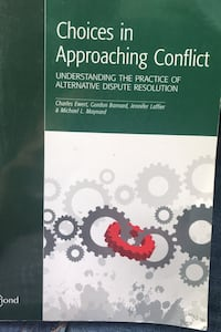 Paralegal Book Choices in Approaching Conflict  Toronto