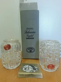 BOHEMIA Crystal Candle Holders Mississauga, L5N 3M4