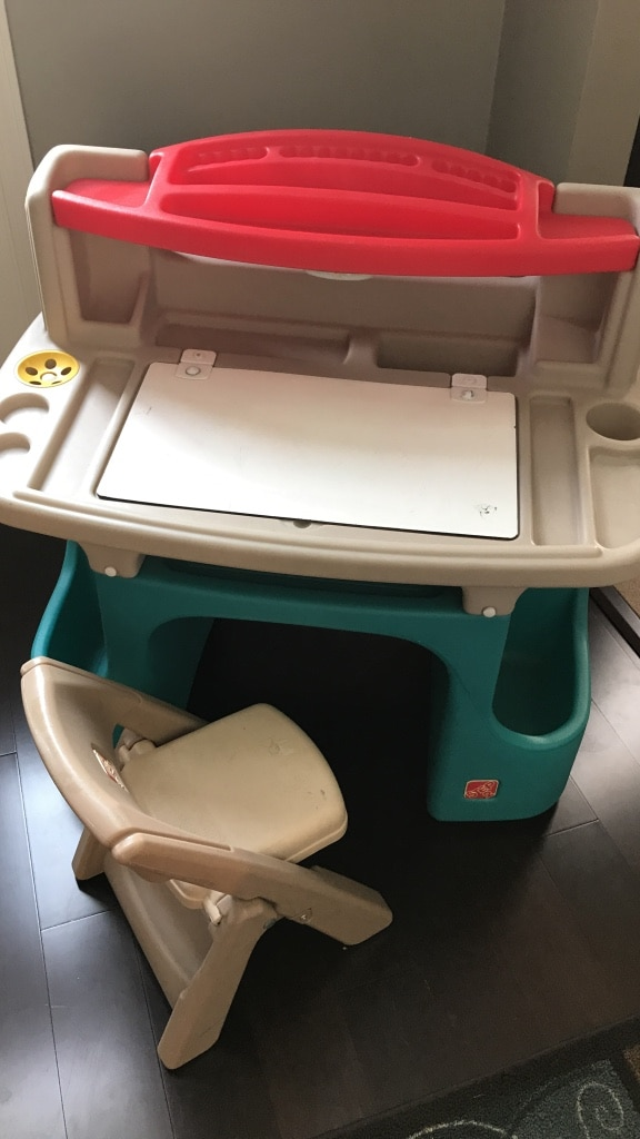 used step 2 sturdy plastic kids desk and chair for sale in allison rh us letgo com
