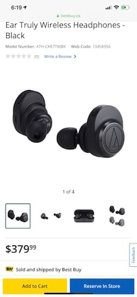 Trade New audio-technica hi end wireless buds  Delta, V4C 6P6