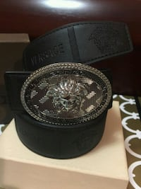 Beautiful Black with Silver Buckle Leather Belt Mississauga, L4Z 4K5