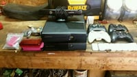 black Xbox 360 console with controller and game ca Anderson, 29621