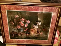 brown wooden framed painting of flowers Loudon, 37774