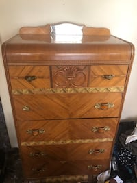 Antique waterfall tall dresser-Delivery avail 4 low fee Portland, 97206