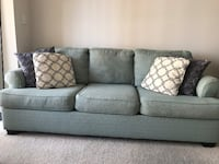 Beautiful Three seater Sofa with free accent pillows Silver Spring