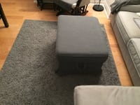 gray ektorp footstool and storage Toronto