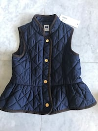 Janie and Jack Navy Quilted Vest
