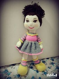 knitted doll in pink and gray dress Kocaeli, 41420