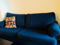 Navy-blue fabric sofa bed and armchair Toronto, M4S 1J9