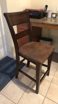 Brown wooden framed brown padded chair Orlando, 32814
