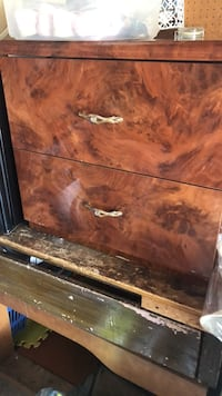 2 piece brown marble nightstands  Brampton, L6T 2Z2