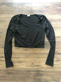 black scoop neck long sleeve shirt Edmonton, T6H