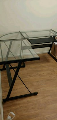 rectangular glass top table with black metal base Copperas Cove, 76522