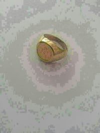 Rare gold coin ring in 10k gold
