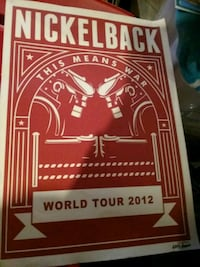 Nickleback VIP package poster West Jefferson, 28694