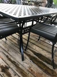 Black wooden table with chairs Richmond Hill, L4C 6M9