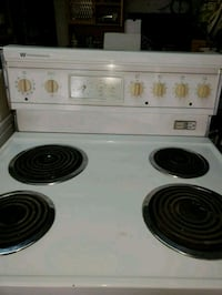 white and black electric coil range oven Repentigny, J6A 4T4