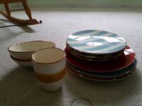 Colorful outdoor plates and cup  Cambridge, N1T 2A3