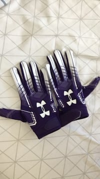 Purple Under Armour Football gloves
