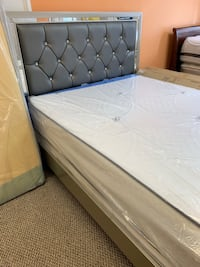 BED FRAME QUEEN SIZE BRAND NEW IN ITS BOX WE FINANCE NO CREDIT NEEDED ONLY IN DM MATTRESS FURNITURE STORE 303 POCASSET AVE PROVIDENCE RI WE DELIVERY Providence, 02908