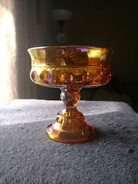 **Carnival Glass** Candy Dish