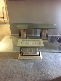 brown wooden frame glass top table Germantown, 20876