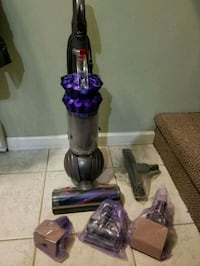 purple and gray Dyson upright vacuum cleaner New Westminster, V3M
