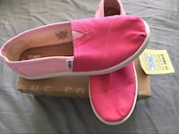 Pink Toms shoes with box