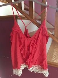 women's pink spaghetti strap top Salem, 01970