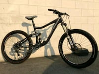 black full-suspension mountain bike New Westminster, V3L 1J1