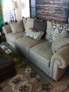 Oversized couch + chair and a half