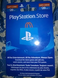 $20 playstation store gift card Toronto, M6M 2C5