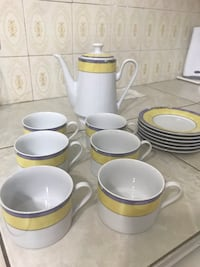 SET OF 6 CERAMIC CUPS + COFFEE DISPENSER Montréal, H4N
