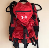 Under Armor hiking backpack red and black