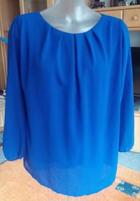 Damen Bluse Perlen Design Tunika Gr.S in Trendy Royalblau Elsfleth