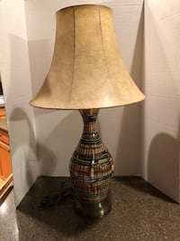 "Black and Brown Patterned 30"" Lamp Manassas, 20112"