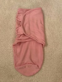 baby's red swaddle blanket