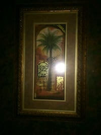 brown wooden framed painting of green leaf plant Springfield, 65803
