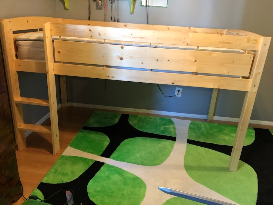 used white and green wooden bunk bed for sale in voorhees letgo rh tr letgo com