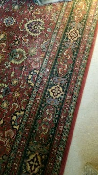 green, brown, and red floral area rug Germantown, 20874