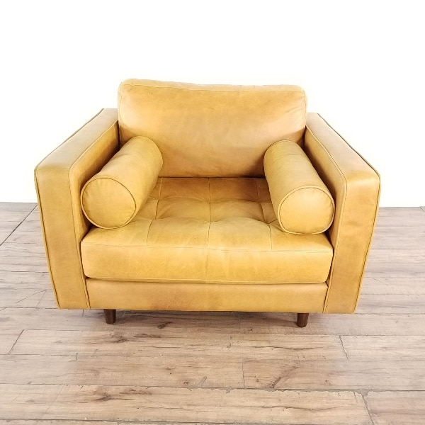 Awe Inspiring Article Leather Sven Charme Chair 1025314 Ibusinesslaw Wood Chair Design Ideas Ibusinesslaworg