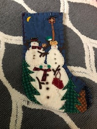 Snowman Stocking  Holly Springs