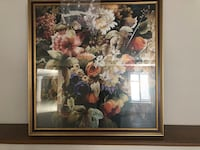 Floral frames art with glass