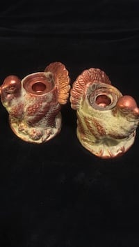 Two brown-and-white ceramic owl figurines Gulfport, 39503