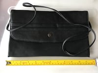 Thin black shoulder purse with built in mirror Toronto, M2M