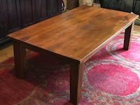 """Coffee table solid wood.  54"""" x 30"""" x 18"""" Lake Forest"""