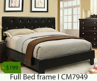 black wooden bed frame with white mattress Fountain Valley, 92708