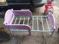 purple and white metal bed frame Beaver Falls, 15010