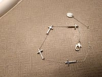 silver link and cross chain necklace with lobster lock Langley, V2Y 3A5