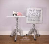 Pretty Pair Restyled Vintage End Tables Richmond Hill